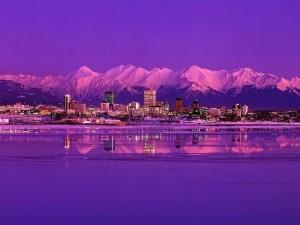 La ciudad de Anchorage, Alaska