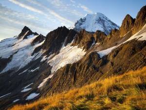 Montañas con hielo