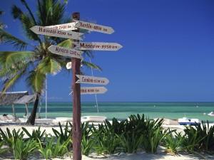 Varias direcciones desde la playa