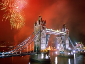 Fuegos artificiales en Londres