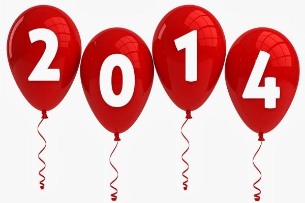 2014 en globos rojos
