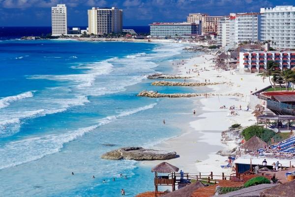 Playa en Cancún, Mexico