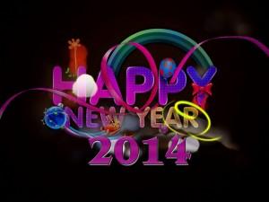 Postal: Feliz Nuevo Año 2014