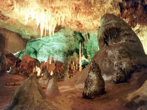 Postal: Cueva en el  Parque Nacional de las Cavernas de Carlsbad, Nuevo México