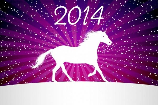 Llega el 2014 a lomos de un caballo