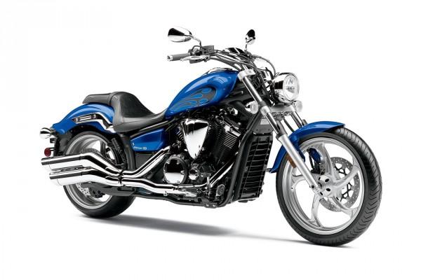 Yamaha Stryker en color azul