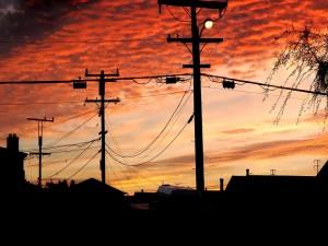 Postal: Una luz al anochecer