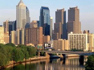 Postal: Edificios de la ciudad de Filadelfia