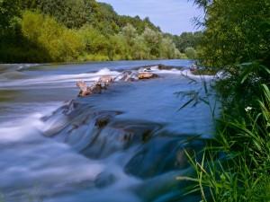 La corriente del río