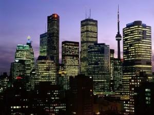 Postal: Noche en la ciudad de Toronto