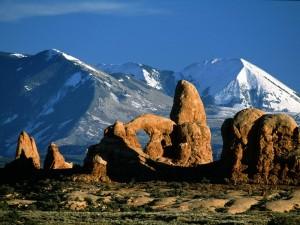 Postal: Parque nacional de los Arcos en Utah
