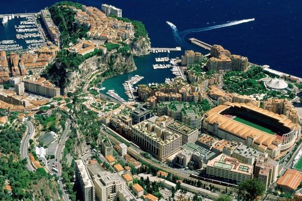 Vista aérea del Principado de Mónaco
