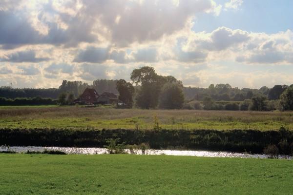 Un pequeño río cortando el paisaje
