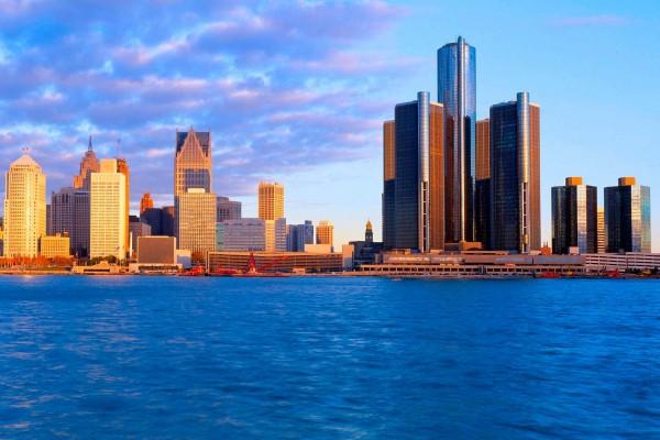 Edificios de la ciudad de Detroit