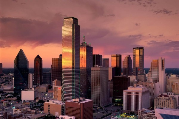 Dallas al atardecer