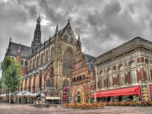 Postal: Plaza Grote Markt, en Haarlem