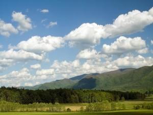 Postal: Muchas nubes en el cielo