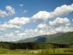 Muchas nubes en el cielo
