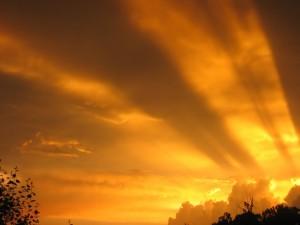 Preciosa puesta de sol