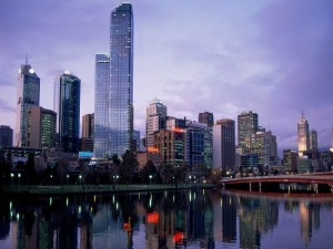 Postal: Noche en Melbourne