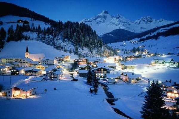 Noche en Filzmoos, Austria