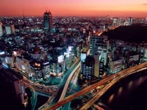 Postal: Carreteras en Tokio