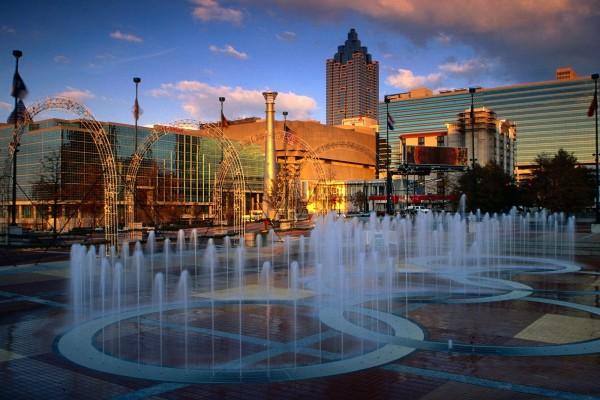 Fuentes en el Centennial Olympic Park, Atlanta
