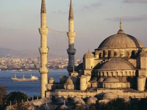 Vista de la Mezquita Azul en Estambul