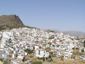 Postal: Álora, vista desde el castillo árabe