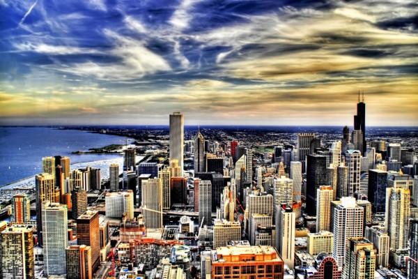 Amplia vista de la ciudad