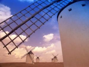 Postal: Molinos de viento en España