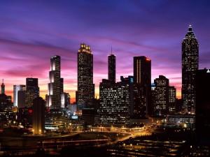 Anochece en Atlanta
