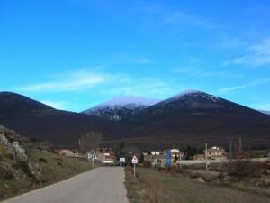 Carretera hacia Cueva de Ágreda (España)