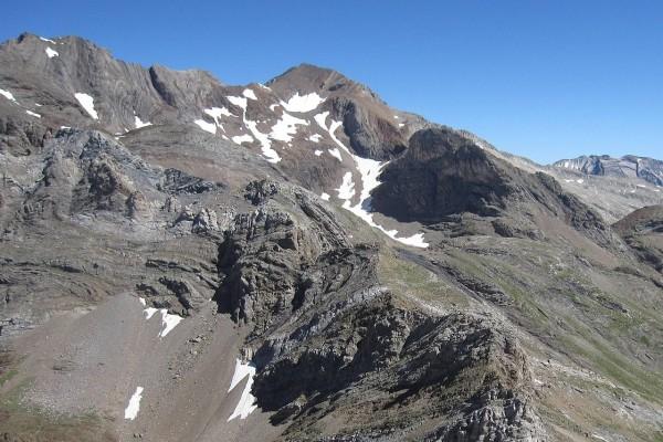 Pico Posets visto desde la cima del pico de la Forqueta, Pirineos españoles