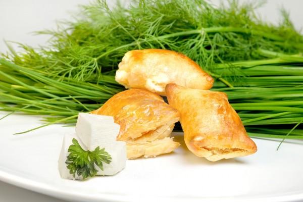 Hojaldre relleno de queso fresco