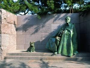Postal: Estatua en el Memorial a Franklin Delano Roosevelt