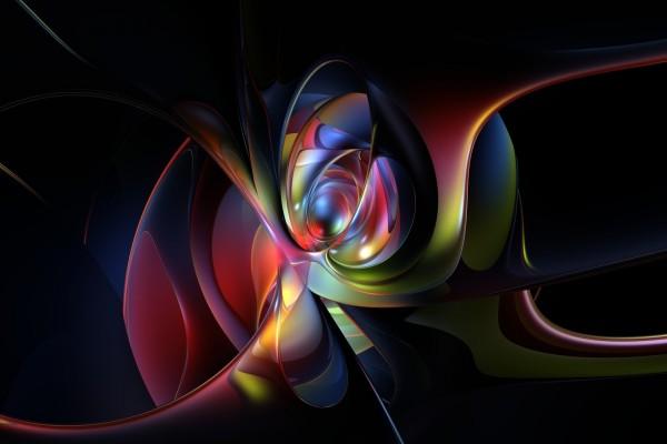 Líneas y círculos de varios colores
