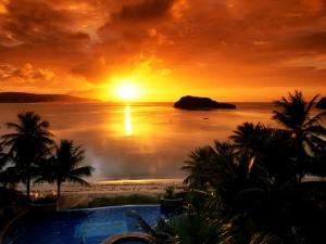 Postal: La puesta de sol