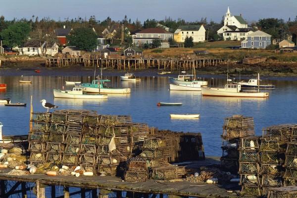 Puerto pesquero en Maine