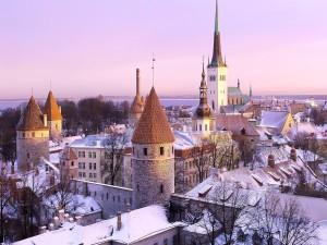 Un frío día en Tallin, Estonia