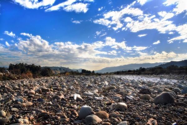 Lugar lleno de piedras