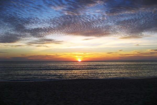 Fin del día en la playa