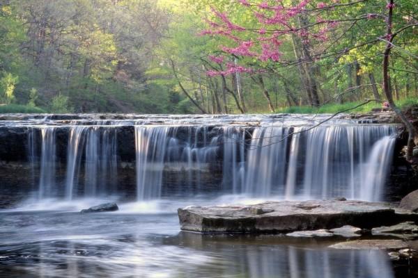 Cascada en un bello entorno