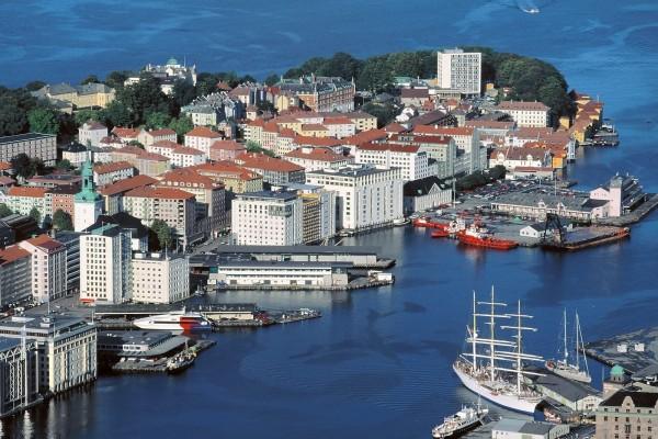 La ciudad de Bergen, Noruega