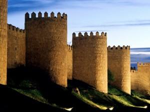 La muralla de Ávila, España