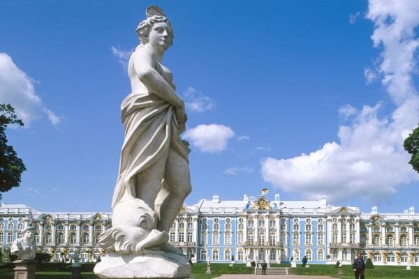 Estatua en el Palacio de Catalina, San Petersburgo