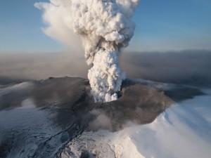 Postal: Erupción de un volcán
