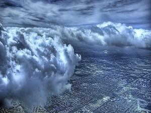 Postal: Vistas desde las nubes