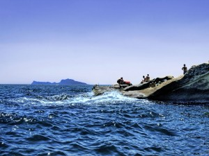 Postal: Un chapuzón en el mar