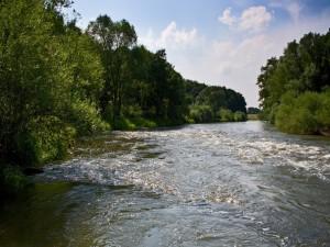 Un río caudaloso